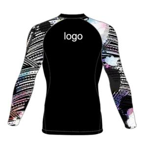 Custom polynesian patterns Latest Design Compression shirt long sleeves rash guard