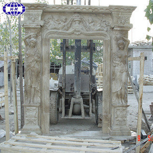 Decorative sandstone main door frame design