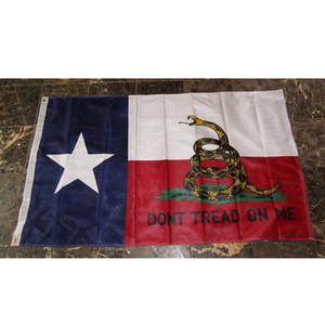 DONT TREAD ON ME TEXAS flag 3x5 ft TX gadsden banner
