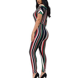 Dropshipping New Styles High Waist Short Sleeve Women Sexy Jumpsuit