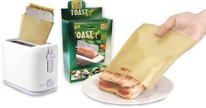 EKSEL Toaster Bags Gluten Free Toasts Reusable Non-Stick Fits Any Size Bread FDA Approved 3 Pack