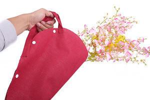 European Portable Flower Bag ,Elegant Natural Fiber Shopping Bags, Jute Gift Bag