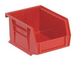 G0165 Hang and Stack Bin 5 In L 4-1/8 In W Red