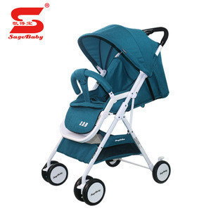High landscape foldable Junior baby stroller, baby carriage crib certified with En1888
