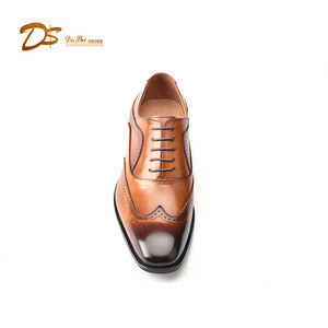 Hot sell wholesale men dress shoes genuine leather fashion dress shoes