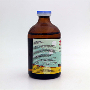 Kanamycin Sulfate Injection GMP Veterinary Drug Antibacterial Antibiotics Antidote Animal Medicine Best Price For Cattle Horse
