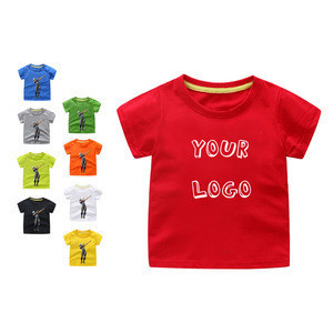 Kids children baby round neck plastisol heat transfers digital screen 100% cotton Boy custom printing t shirt