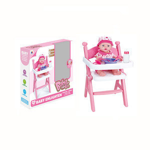 Kids play baby dinning chair toys with lovely doll play set toys