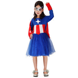 Lipan-Halloween party Adult kids family superman American captain Cosplay with mask