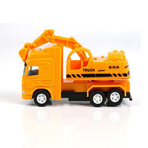 Miniature construction metal diecast truck toy