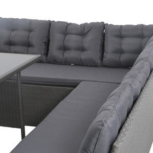 Modular Patio Rattan Weave Garden Furniture Outdoor Lounge Couch Sofa Made in China