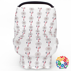 Multi-use stretchy Bear baby car seat covers & nursing cover