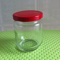 Pop wholesale glass ball round pickle hot sauce jar fermented bean curd jar with metal lid
