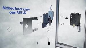 Progressive Elevator Safety Gear Manufacturers with Lateral Displacement, Machined and Oil Guide Rail - DYNATECH
