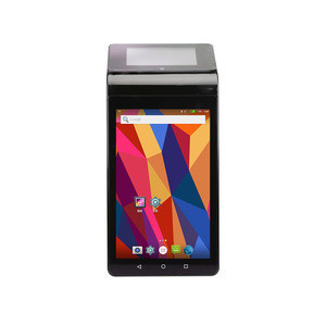 PT7003 Android 7'' main screen+3.5'' dual touch screen all in one pos system with printer