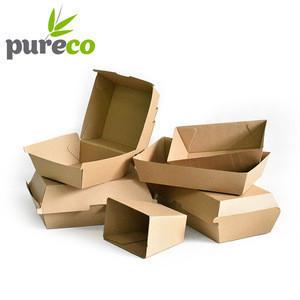 Recycled paper printed hamburger packing burger box