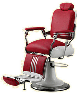 Red color classic cheap barber chairs DS-T024 for hair salon