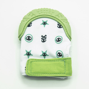 Soft Cotton Silicone Kids Glove Baby Teething Mitten