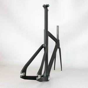 Super light carbon fiber t800 track frame road frames fixed gear bike frameset with fork seat post bicycle frame
