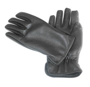 Talking and Touch Screen battery electric Leather Gloves