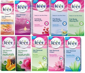 Veet Ready to Use Wax Strips Full Body Waxing Kit for Dry Skin