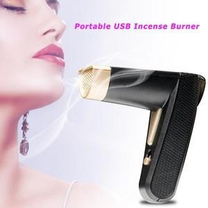Wholesale bakhoor burner portable electric usb censer custom wood incense burner arabic for car