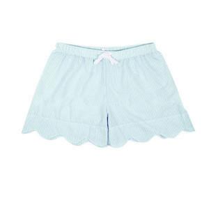 Wholesale Personalized Women Scallop Lounge Shorts