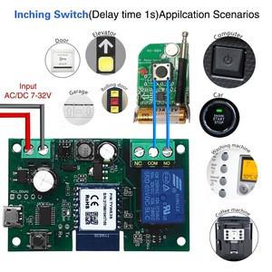 WiFi Wireless Inching Relay Momentary/Self-locking Switch Module DIY Smart Garage Door Opener