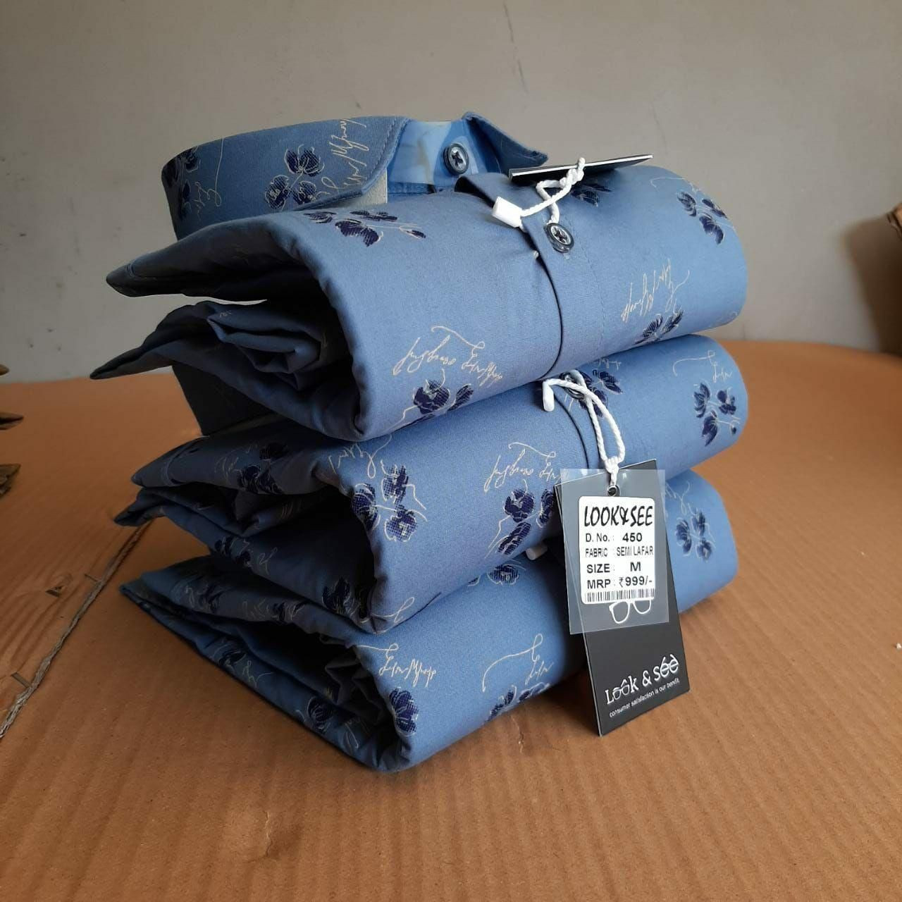 Brand - Look & See. Best quality shirts for men's available in all sizes. and also available in printed, plain design.