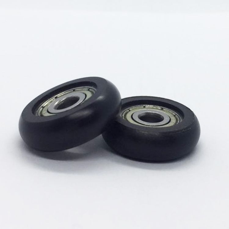 Rubber sealed nylon plastic coated roller wheel bearing for sliding door