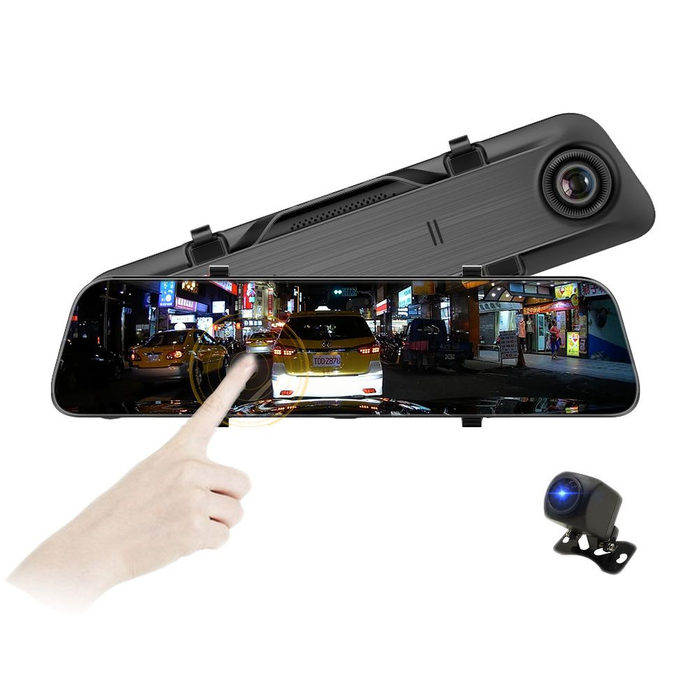 2019 new fhd 12inch 2K resolution driver recorder Rearview mirror camera with 24H loop recording