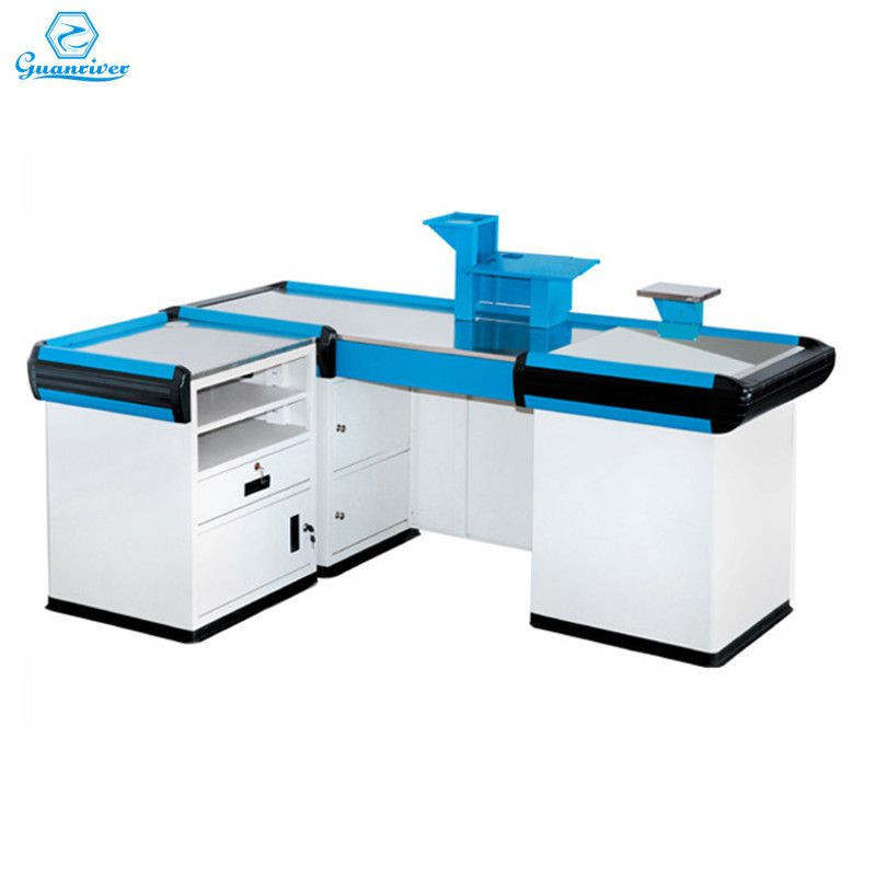 Hot sale wholesale Stainless Steel cash desk/checkout counter for retail store
