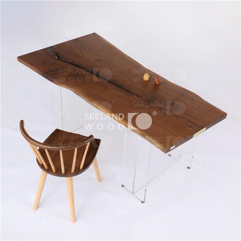 live edge one piece walnut wood table