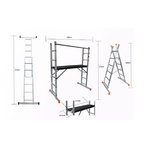 2020 Hot Selling High Quality 2x6 Aluminium Scaffold Ladder