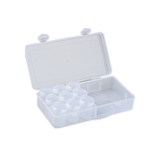 9 in 1 Single round collection pill storage plastic pod case