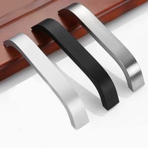 Aluminium Extrusion Profile Anodized Wardrobe Furniture Cabinet Drawer Pull Handle