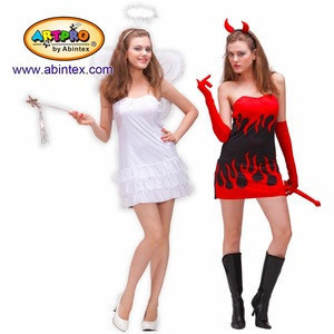 Angel and Devil reversible 2-in-1 costume (09-332) as lady sexy costume, with ARTPRO brand