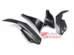 Auto Turning Carbon Fiber CF Bodykit For Skyline R33 GTR Border Front Bumper Canard Splitter Valance 4pcs