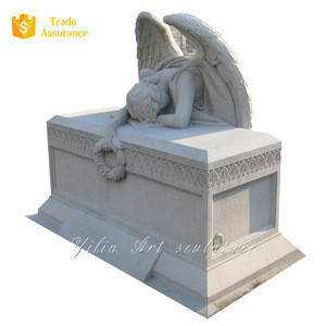 Black granite monuments angel tombstone YL-R485