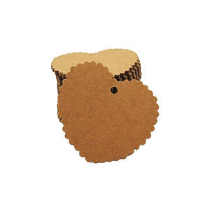 Blank brown kraft paper DIY gift tag cardboard paper garment hang tag