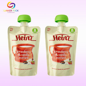 BRC Standard custom printed standing pouch with spout for baby juice