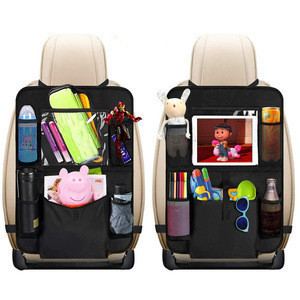 Car Back Seat Organizer Kids - Car Organizers Covers Protectors with Touch Screen Tablet Holder Large Storage Pockets