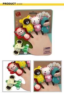 Cartoon animals set technology kids hand finger puppet toys