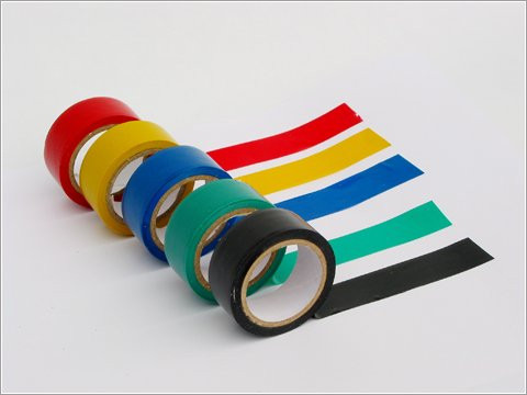 Coloured fireproof PVC electrical insulation tape