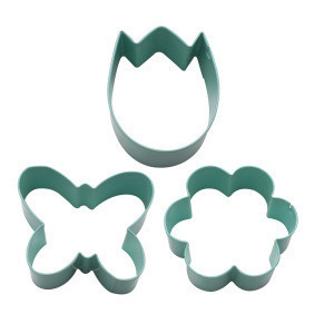 Cookie Cutter Set of 3 Flower Egg Butterfly Shaped Mould Baking Tools