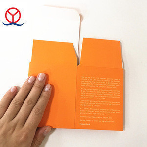 Custom Folded  Yellow  Cheap Tea Packaging Box Square Paper Packing Boxes For Tea