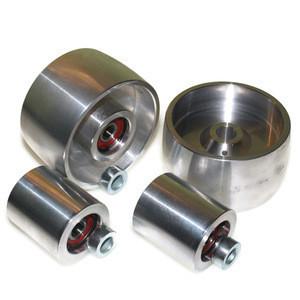 Custom made belt grinder wheel for knife grinders