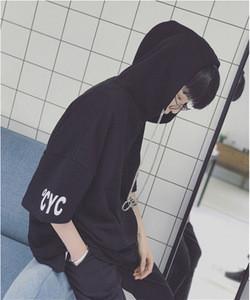 Custom Men's Short Sleeve Sweatshirt Hooded Hoodie