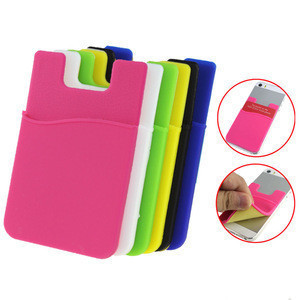 Custom Silicone Card Holder PVC Stick-on Credit Soft Silicon Sticky Credit Card Holder