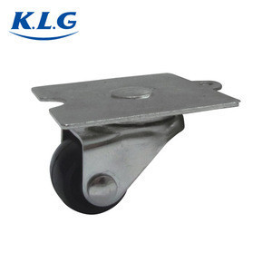 Factory price 1 inch removable iron swivel wheels caster with fixing plate